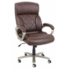 Karl Office Chair with Pneumatic Lift, Brown Bonded Leather Match