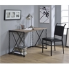 Jodie Desk, Rustic Oak & Antique Black