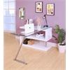 Buck Office Desk, Clear Glass & White