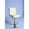Gaylord Adjustable Stool with Swivel (Set-2), Cream PU & Chrome
