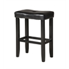 Micha Bar Stool (Set-2), Black PU & Black