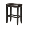 Micha Counter Height Stool (Set-2), Espresso PU & Black
