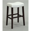 Lewis Bar Stool (Set-2), White PU & Espresso