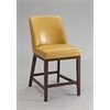 Valor Counter Height Chair (Set-2), Yellow PU & Espresso
