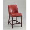 Valor Counter Height Chair (Set-2), Red PU & Espresso