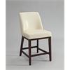 Valor Counter Height Chair (Set-2), Ivory PU & Espresso
