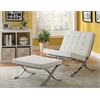 Elian Accent Chair, Ivory PU & Chrome