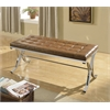 Royce Bench, Brown PU & Chrome