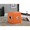 Laila Sound Lounge Ottoman with Bluetooth Speaker, Orange PU