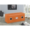 Laila Sound Lounge Bench with Bluetooth Speaker, Orange PU