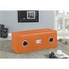 Laila Sound Lounge Bench with Bluetooth Speaker, Orange PU