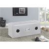 Laila Sound Lounge Bench with Bluetooth Speaker, White PU