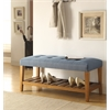 Charla Bench, Blue & Oak