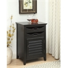 Holland Wine Cabinet, Antique Black