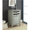Holland Wine Cabinet, Antique Gray