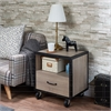 Bemis Nightstand, Rustic Natural & Black
