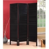 Trudy II 3-Panel Wooden Screen, Black