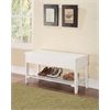 Xio Bench with Storage, White