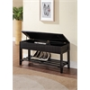 Xio Bench with Storage, Black