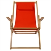 Sling Chair Natural Frame-Orange Canvas