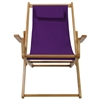 Sling Chair Natural Frame-Purple Canvas