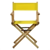 "18"" Director's Chair Natural Frame-Yellow Canvas"