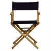 "18"" Director's Chair Natural Frame-Navy Blue Canvas"