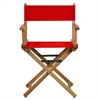 "18"" Director's Chair Natural Frame-Red Canvas"