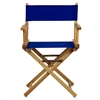 "18"" Director's Chair Natural Frame-Royal Blue Canvas"