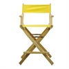 "24"" Director's Chair Natural Frame-Yellow Canvas"