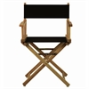 "18"" Director's Chair Natural Frame-Black Canvas"