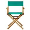 "18"" Director's Chair Natural Frame-Teal Canvas"