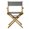 """18"""" Director's Chair Natural Frame-Gray Canvas"""