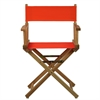 "18"" Director's Chair Natural Frame-Orange Canvas"