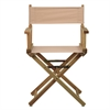 "18"" Director's Chair Natural Frame-Tan Canvas"