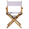 "18"" Director's Chair Natural Frame-White Canvas"