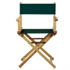 "18"" Director's Chair Natural Frame-Hunter Green Canvas"