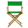 "18"" Director's Chair Natural Frame-Green Canvas"