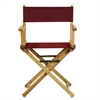 "18"" Director's Chair Natural Frame-Burgundy Canvas"