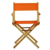 "18"" Director's Chair Natural Frame-Tangerine Canvas"