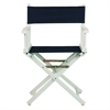 "18"" Director's Chair White Frame-Navy Blue Canvas"