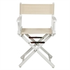 "18"" Director's Chair White Frame-Natural/Wheat Canvas"