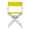 "18"" Director's Chair White Frame-Yellow Canvas"