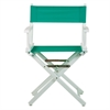 "18"" Director's Chair White Frame-Teal Canvas"
