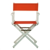 "18"" Director's Chair White Frame-Orange Canvas"