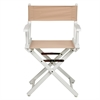 "18"" Director's Chair White Frame-Tan Canvas"