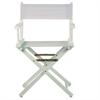 "18"" Director's Chair White Frame-White Canvas"