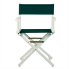 "18"" Director's Chair White Frame-Hunter Green Canvas"