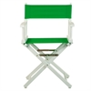 "18"" Director's Chair White Frame-Green Canvas"