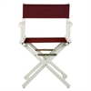 "18"" Director's Chair White Frame-Burgundy Canvas"